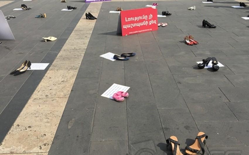 В Армении прошла акция протеста против насилия над женщинами