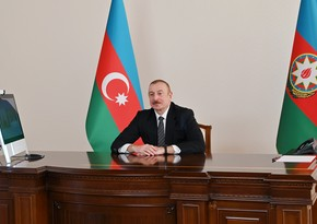 Ilham Aliyev receives Chairman Joint Chiefs of Staff Committee of Pakistan in video format
