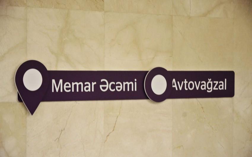 Bakıda iki yeni metro stansiyası istifadəyə verilib