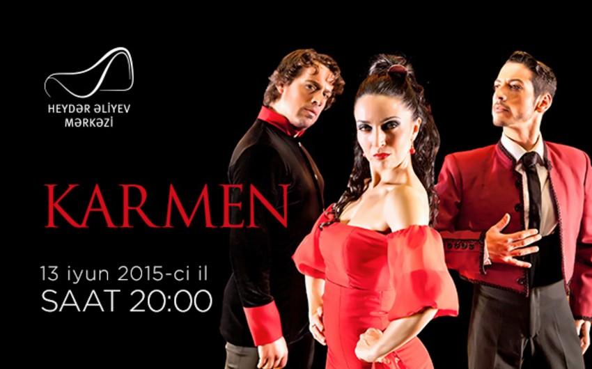 Испанская группа фламенко представит шоу Кармен в Центре Гейдара Алиева