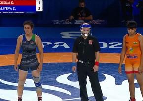 Dünya çempionatı: Azərbaycanın qadın güləşçisi bürünc medal qazanıb