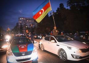Azerbaijani people celebrate Karabakh victory