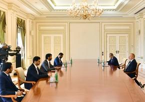 President Ilham Aliyev receives Minister of Economy of UAE