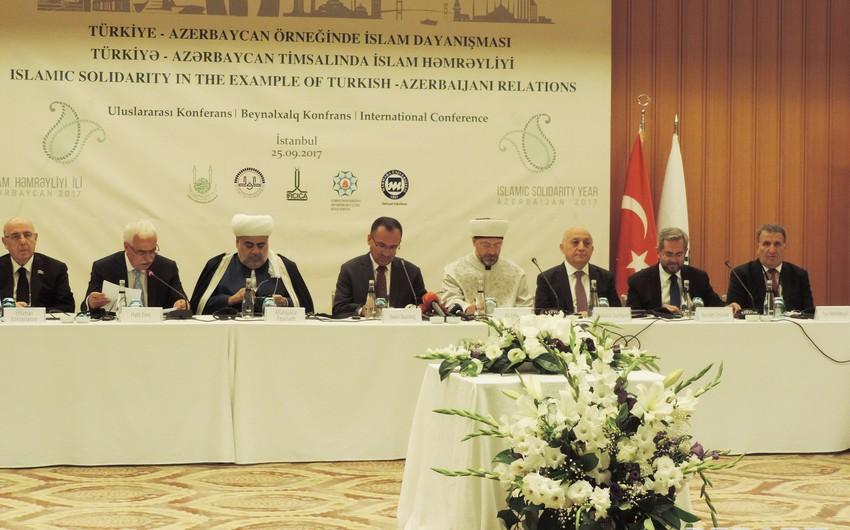 İstanbulda Allahşükür Paşazadə və Mübariz Qurbanlının iştirakı ilə beynəlxalq konfrans keçirilir
