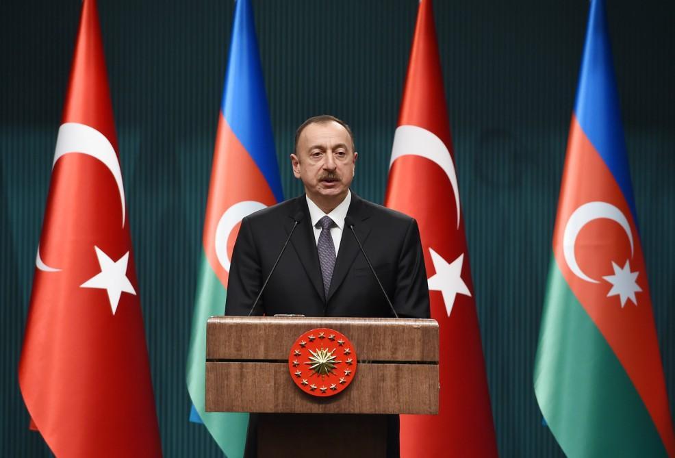 Президент Ильхам Алиев: Турция и Азербайджан являются странами, возвышающими свой голос