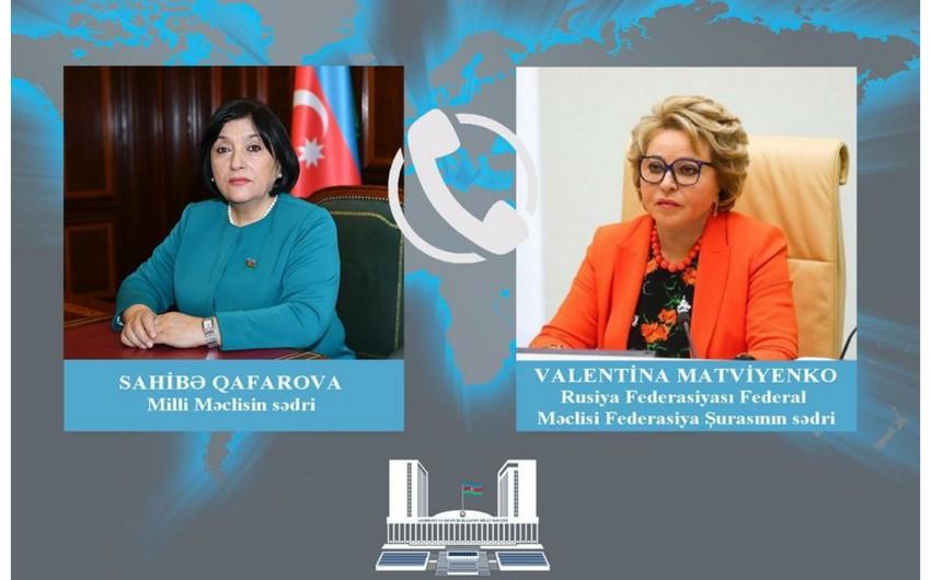 Sahibə Qafarova Valentina Matviyenkoya Gəncəyə raket atılması barədə məlumat verdi