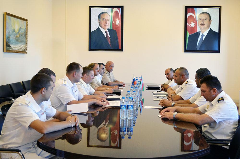Azerbaijan Naval Forces host crews of the Caspian Flotilla warships
