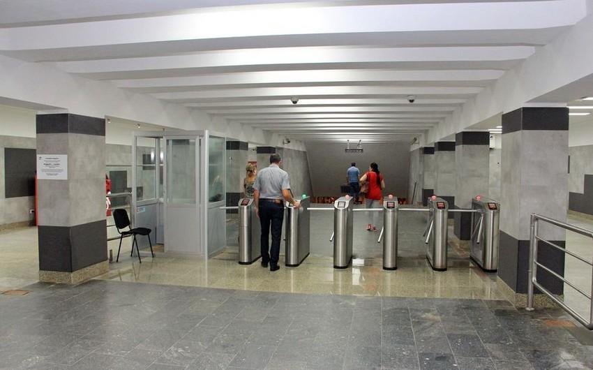 Neftçilər metro stansiyasında təmir bitib