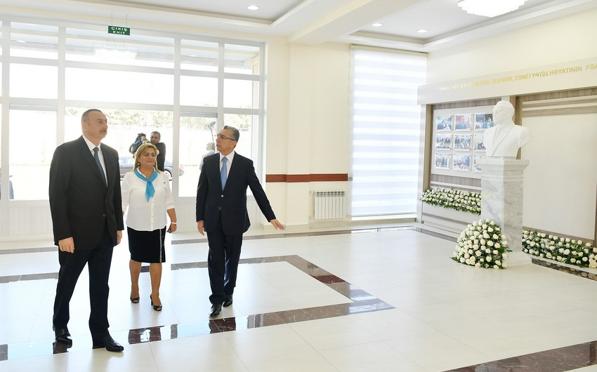 President Ilham Aliyev views conditions created at newly-reconstructed school No 208 in Surakhani district