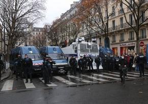 Parisdə 100-dən çox nümayişçi saxlanılıb