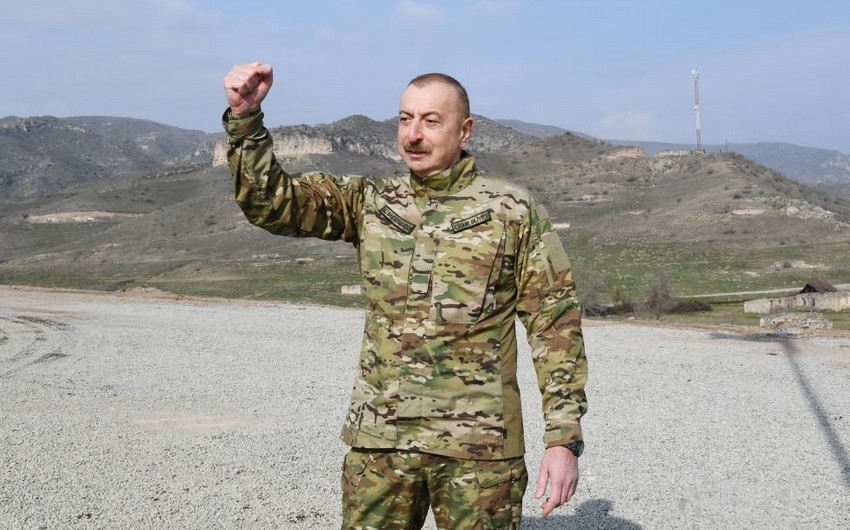 Prezident: Biz gəldik, bayrağımızı qaldırdıq, düşməni qovduq torpağımızdan