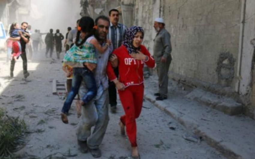 Suriyanın Hələb şəhərinin 40 nəfərdən çox mülki sakini terrorçular tərəfindən öldürülüb