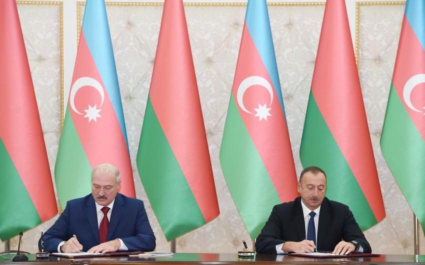Azərbaycan-Belarus sənədləri imzalanıb - ƏLAVƏ OLUNUB