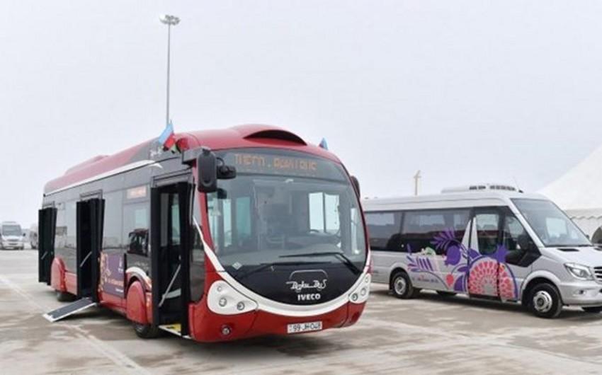 Bakıda avtobus, taksi və mikroavtobusların sayı artırılacaq