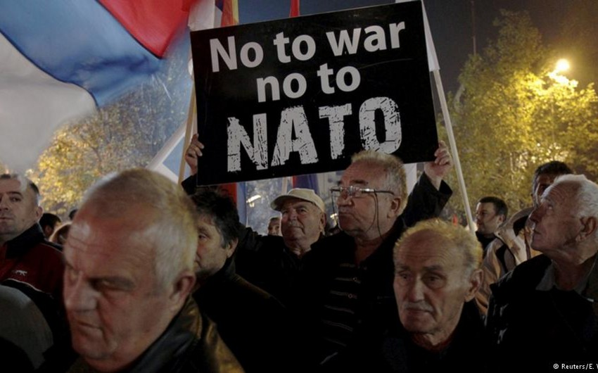 Monteneqroda NATO-ya üzvlük əleyhinə mitinq keçirilib