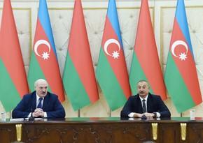 Президенты Азербайджана и Беларуси выступили с заявлениями для печати - ОБНОВЛЕНО