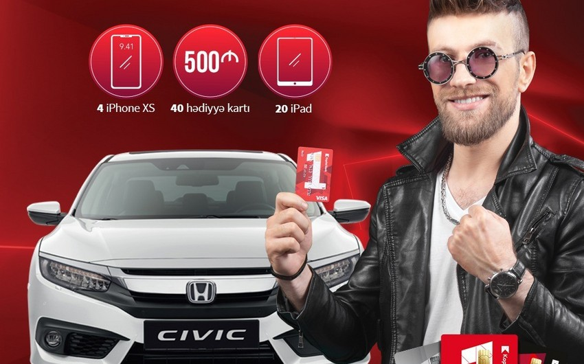 Kapital Bank müştərilərinə Honda Civic avtomobili qazanmaq imkanı yaradıb