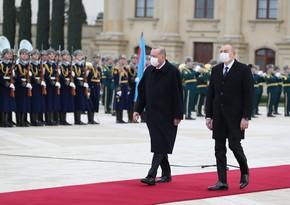 Состоялась церемония официальной встречи президента Турции Реджепа Тайипа Эрдогана