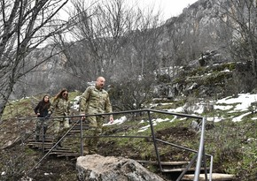 Prezident: Ermənilər Azıx mağarasına vurduqları ziyanın hamısını ödəyəcəklər