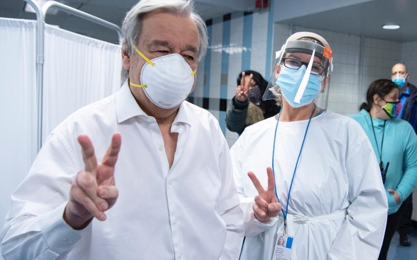 Guterres gets vaccinated against COVID