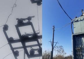 """""""Azərişıq"""" daha bir rayonda elektrik enerjisi şəbəkəsini yeniləyir"""