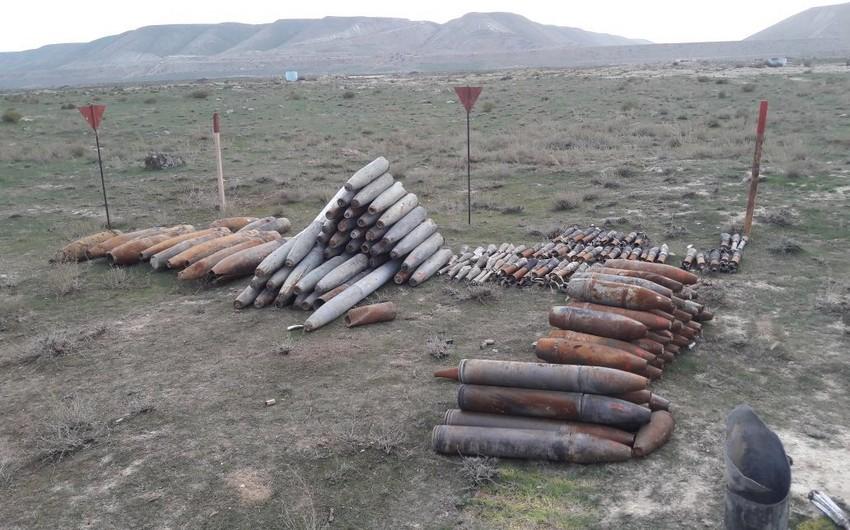 Xızıda 300 ədəd partlamamış hərbi sursat tapılıb