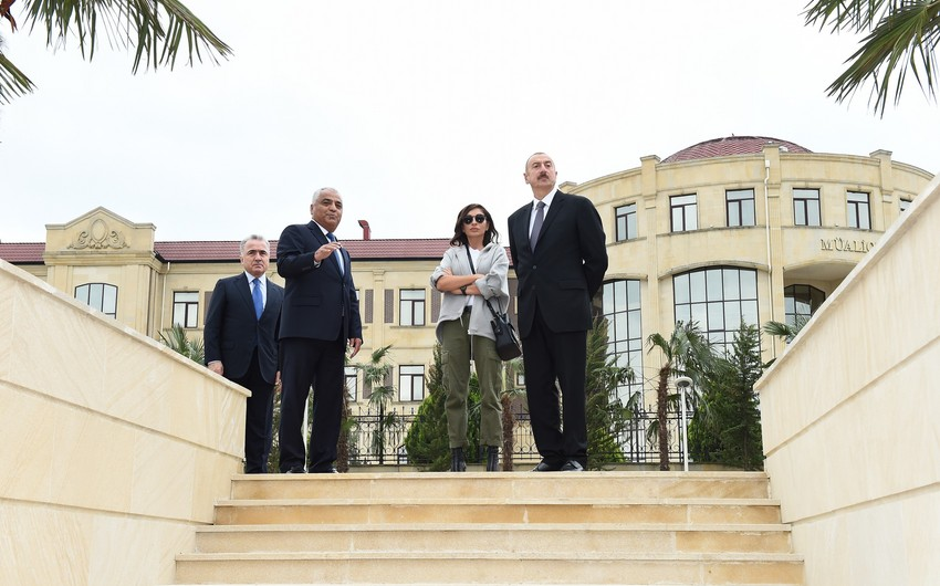 President Ilham Aliyev views conditions created at Youth Park in Guba