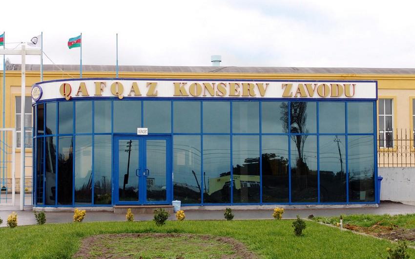 Qafqaz Konserv Zavodunun direktoru cəzalandırıldı