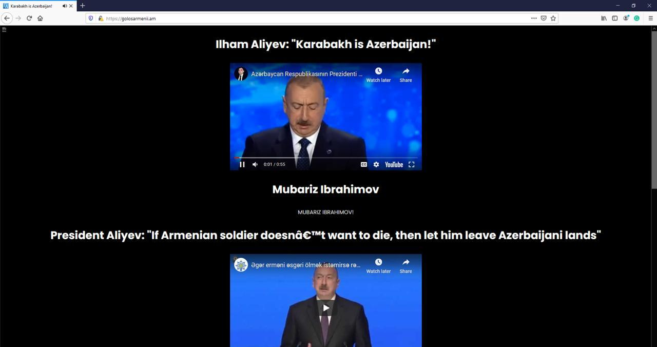 Azərbaycan hakerləri Ermənistanın ən populyar saytlarından birini dağıdıblar