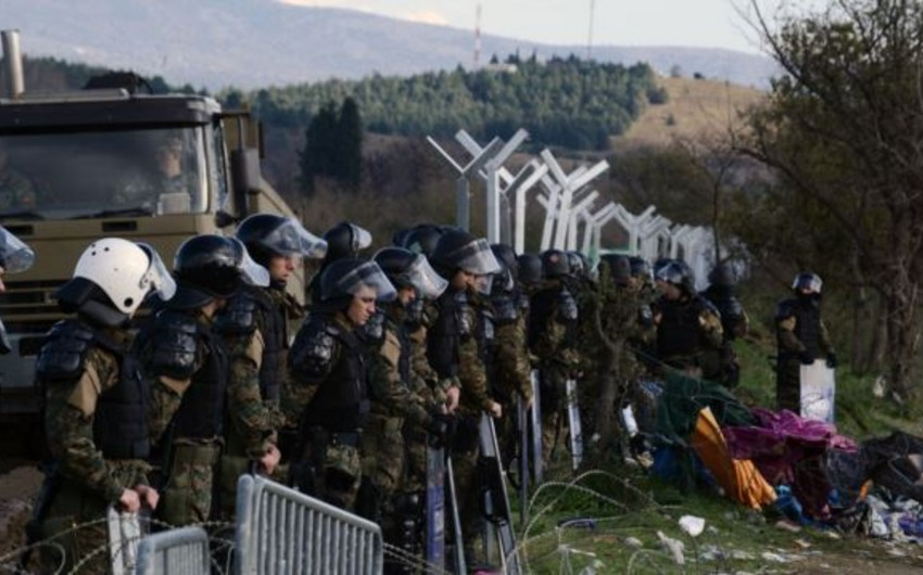 Makedoniya ordusu Yunanıstanla sərhəddə sədd qurur