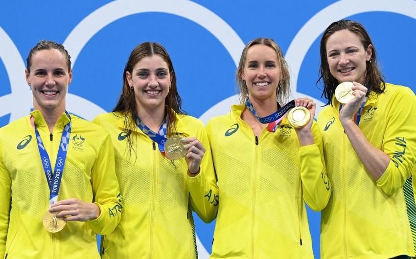 Tokio-2020: Avstraliya komandası özlərinə məxsus rekordu yenilədi