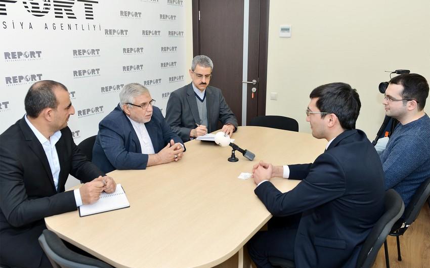 İranın Azərbaycandakı səfiri Report informasiya agentliyində olub - FOTO