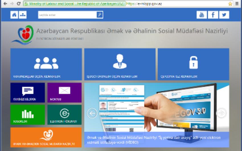 """ƏƏSMN-in yeni """"Elektron xidmətlər portalı"""" istifadəyə verilib"""