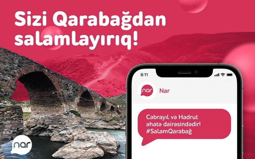 """""""Nar"""" şəbəkəsi Hadrutda və Cəbrayılda!"""