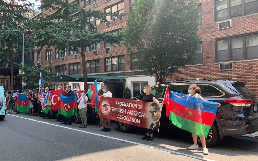 Ermənistanın ABŞ-dakı konsulluğu qarşısında aksiya keçirilib