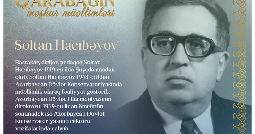 Знаменитые учителя Карабаха – Солтан Гаджибеков