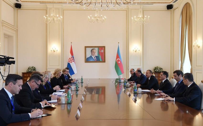 Президент Ильхам Алиев: У нас есть хорошие возможности для развития отношений между Азербайджаном и Хорватией - ОБНОВЛЕНО
