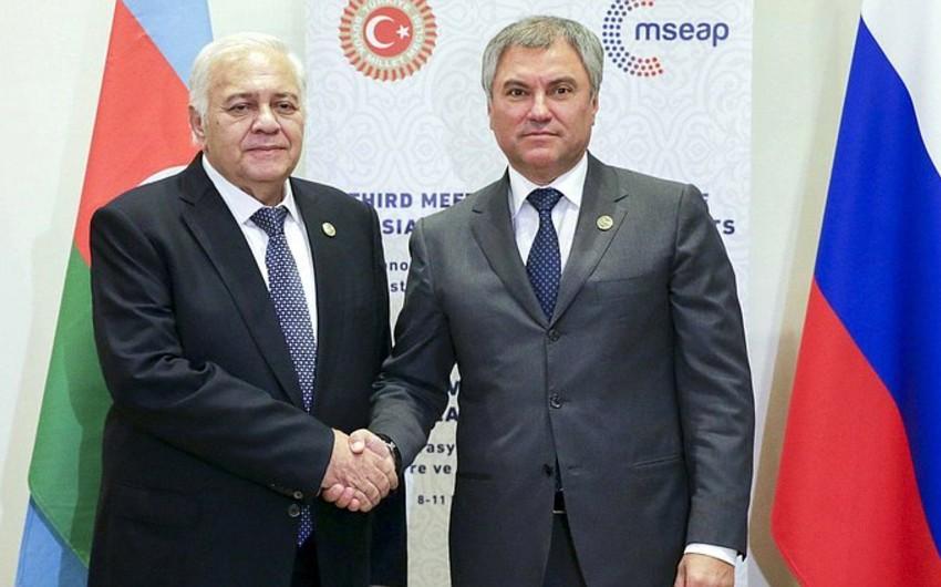 State Duma Chairman invites Milli Majlis's Speaker to visit to Russia