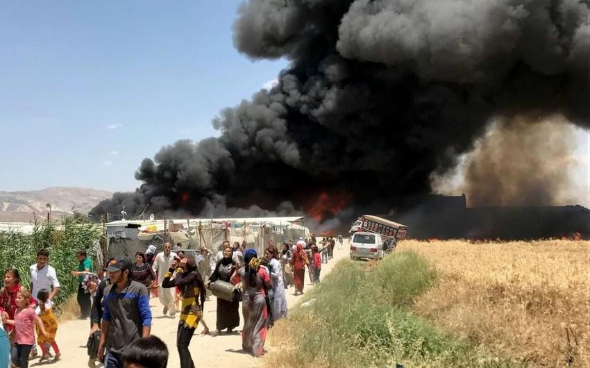 Suriyada qaçqın düşərgəsində yanğın zamanı azı 4 nəfər ölüb, onlarla xəsarət alan var
