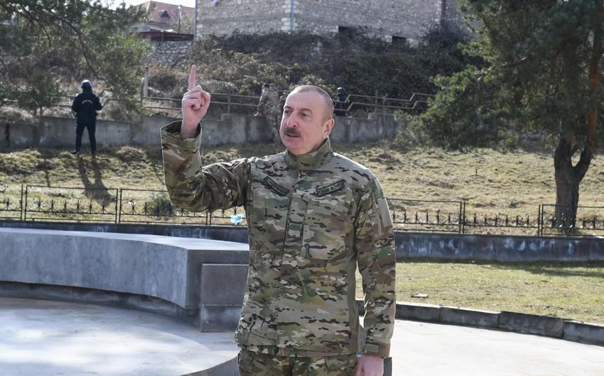 Prezident: Azərbaycan vətəndaşları Şuşaya rahat gedəcəklər