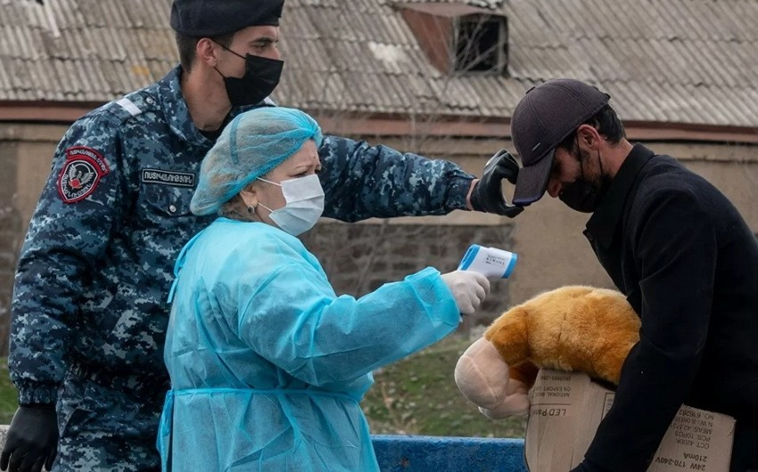 Ermənistanda ağır koronavirus xəstələrinin sayı artdı
