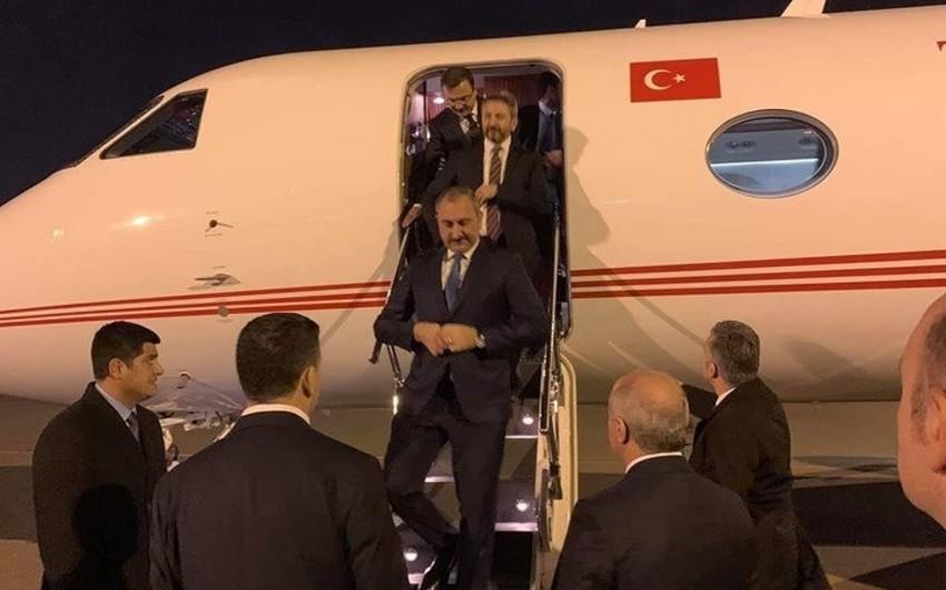 Turkish Justice Minister arrives in Azerbaijan