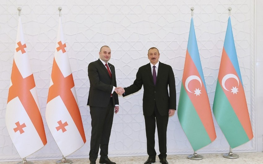 President Ilham Aliyev meets with PM of Georgia