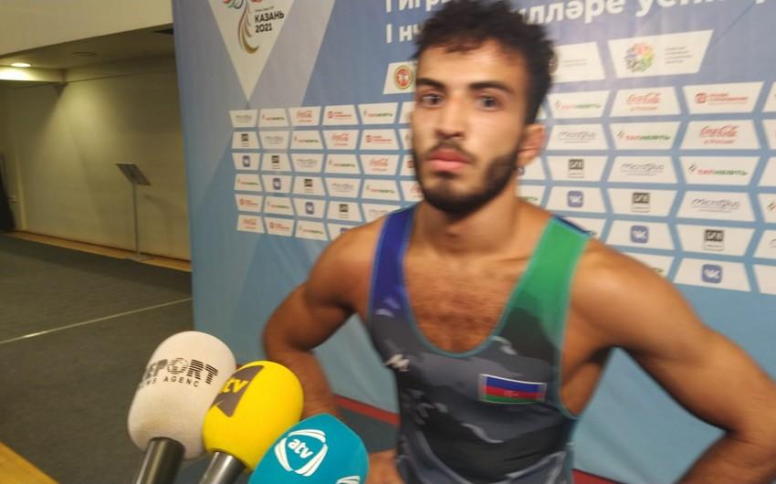 Azərbaycan güləşçisi: İlk dəfə keçirilən yarışda qızıl medal qazanmaq gözəl hissdir