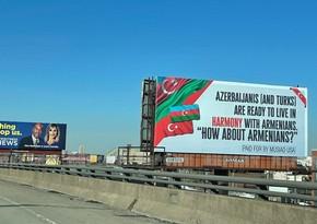 ABŞ azərbaycanlılarından ermənilərə sülh mesajı lövhəsi