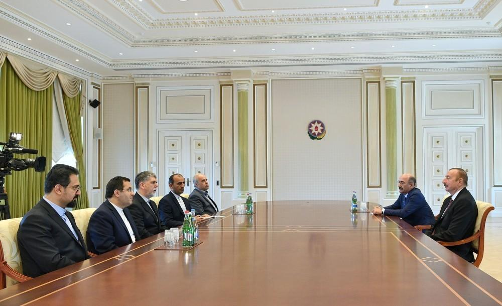 President Ilham Aliyev received delegation led by Irans minister of culture and Islamic guidance
