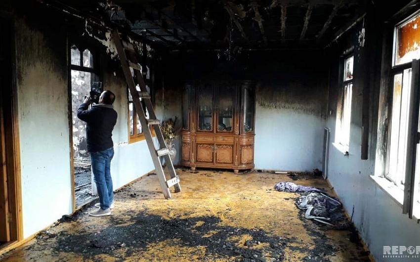Ağsuda fərdi yaşayış evi yanıb - FOTO - VİDEO
