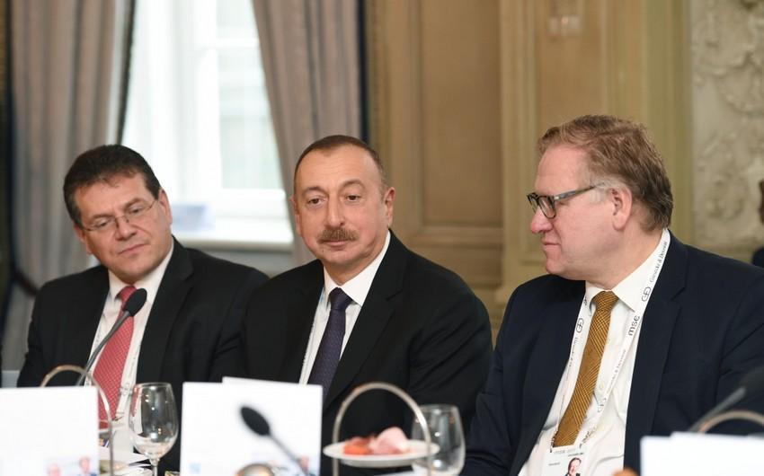 Prezident İlham Əliyev: Azərbaycan region üçün enerji təhlükəsizliyini təmin etməklə öz vacib rolunu oynayır