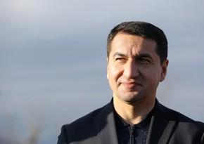 """Hikmət Hacıyev: """"Şuşa Ermənistanın 30 illik hərbi işğalından sonra bərpa olunur"""""""