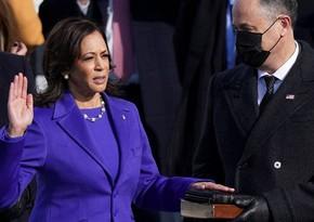 ABŞ-ın ilk qadın vitse-prezidenti and içdi